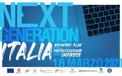 """Evento """"Next Generation Italia – Recovery Plan per la digitalizzazione delle imprese"""""""